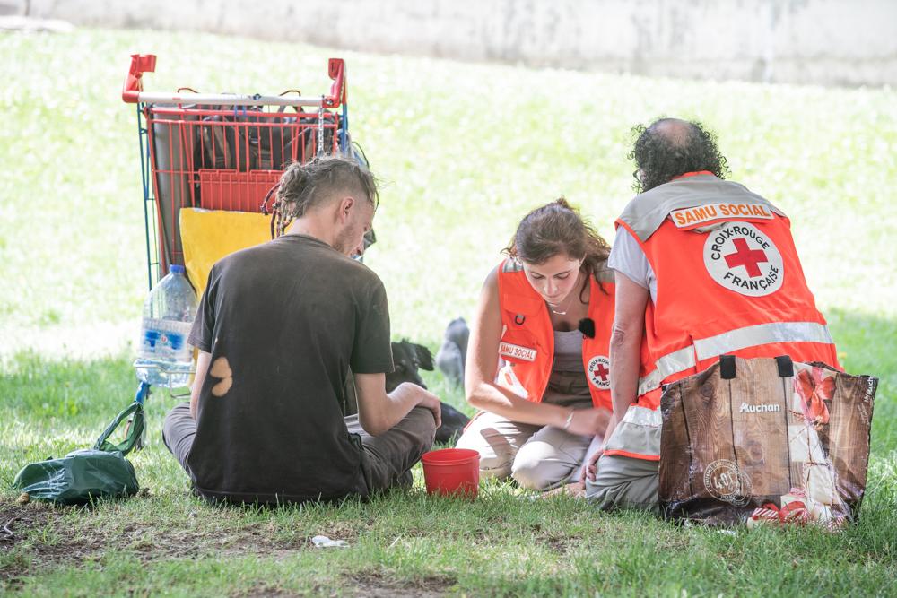 Maraude exploratoire de la Croix-Rouge française du Rhône