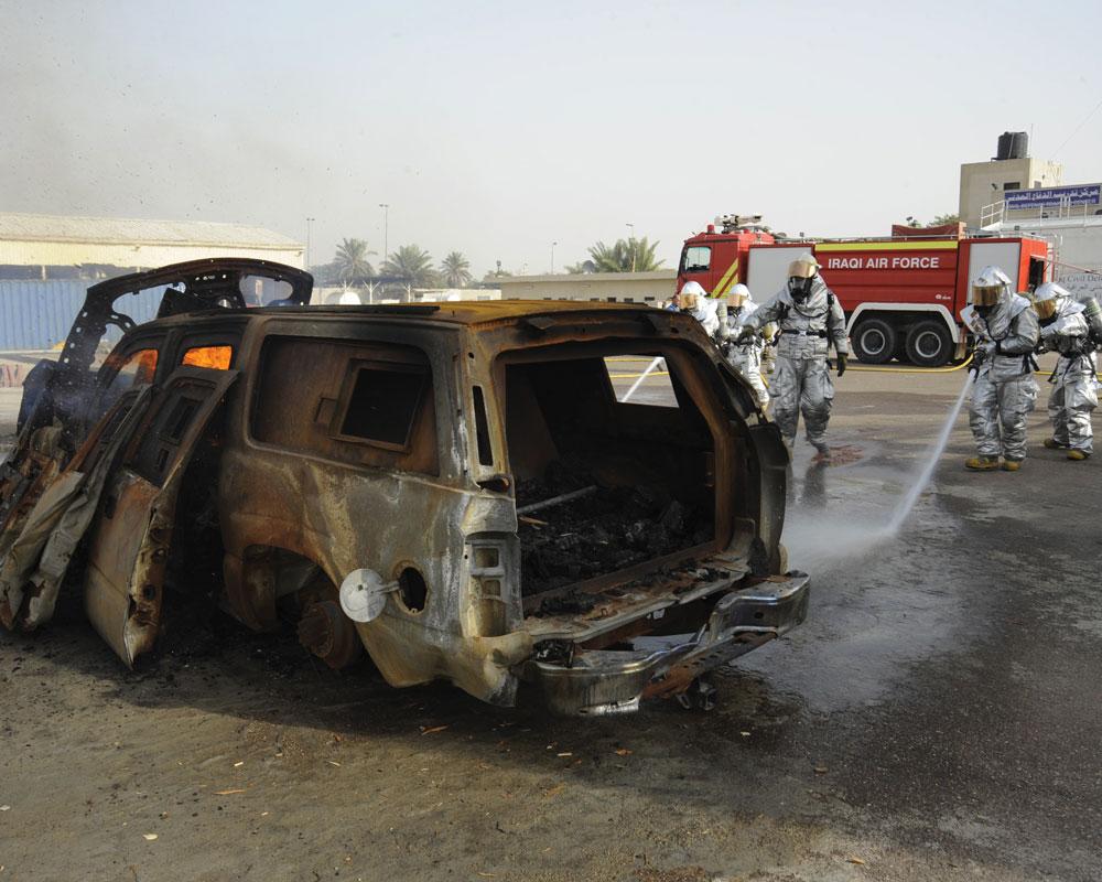 Exercice incendie Irak