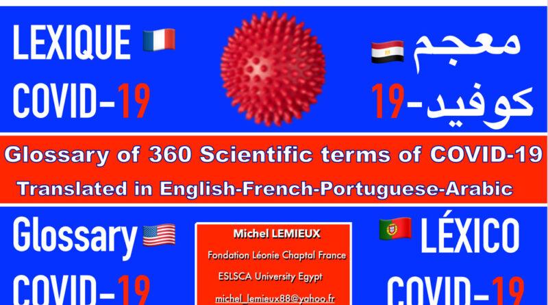 Covid-19 : un nouveau lexique en quatre langues