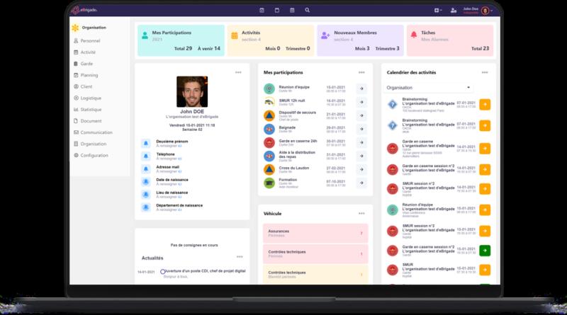 Nouvelle interface de e-Brigade
